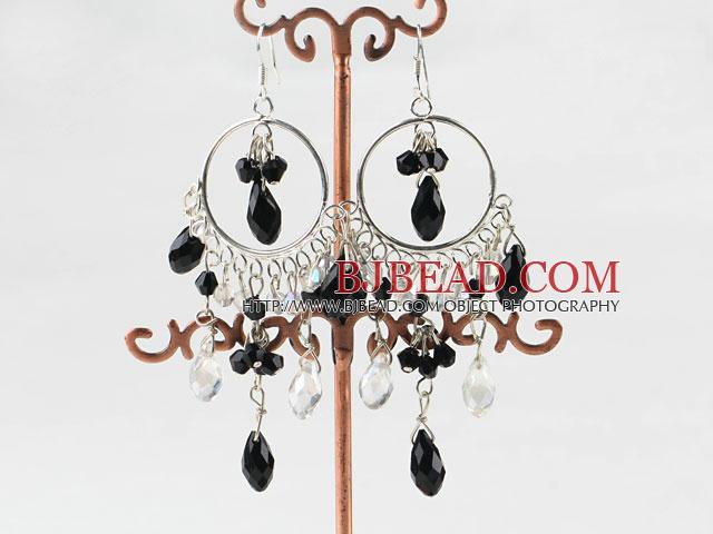 Lampadario Bianco E Cristallo : Lampadario in stile bianco e nero orecchini di cristallo