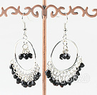 fashion 4mm black crystal earrings