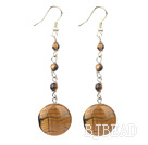 fashion tiger's eye dangle earrings
