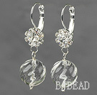 New Design Natural Clear Crystal Earrings with Rhinestone