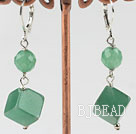 round and cubic shape earrings