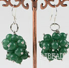 popular cluster style 6mm aventurine earrings
