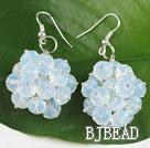 popular cluster style 6*8mm opal earrings
