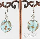 Cute Style Light Blue Colored Glaze Earrings under $ 40