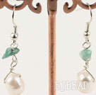 aventurine white pearl earrings under $ 40