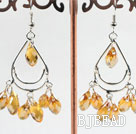 lovely mandmade yellow crystal earrings