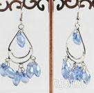 lovely light blue crystal earrings under $2.5