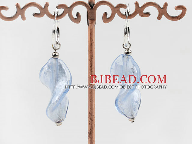 Cute style Woven shape gradient colored glaze earrings