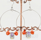 Large-diameter circle fashion charm earrings