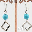 blue turquoise earrings under $ 40