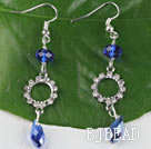 lovely gem blue manmade crystal earrings with rhinestone under $ 40