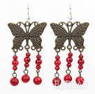 red blood stone earrings