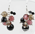Assorted Multi Color Crystal and Black Agate Earrings