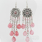 New Design Cherry Quartz Dangle Earrings