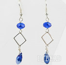 Simple Style Sapphire Color Crystal Dangle Earrings under $ 40