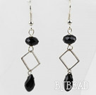 Simple Style Black Crystal Dangle Earrings under $ 40