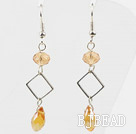 Simple Style Yellow Crystal Dangle Earrings under $ 40