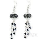 New Design Black Colored Glaze Charm Earrings