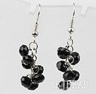 Simple Style Black Crystal Earrings