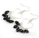 Heart Shape Black Crystal Fashion Earrings under $2.5
