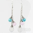 Dangle Style Assorted Multi Color Drop Shape Crystal Earrings under $ 40