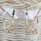 Fashion Style Big Crystal Hoop Earrings under $ 40