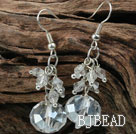 Simple Style Clear Crystal Earrings