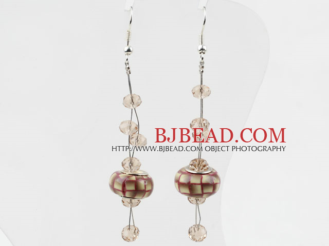 New Design Colored Glaze Charm Earrings