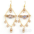New Design Crystal and Colored Glaze Charm Earrings