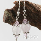 Lovely Style Rose Quartz Earrings under $ 40