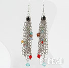 New Design Multi Color Crystal Dangle Earrings