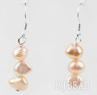 Simple Style Pink Freshwater Pearl Beaded Earrings under $ 40