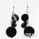 Assorted Black Agate Dangle Style Earrings under $ 40