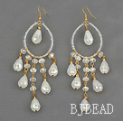 Assorted Drop Shape Opal Crystal Earrings