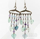 Vintage Style Rainbow fluorite Earrings