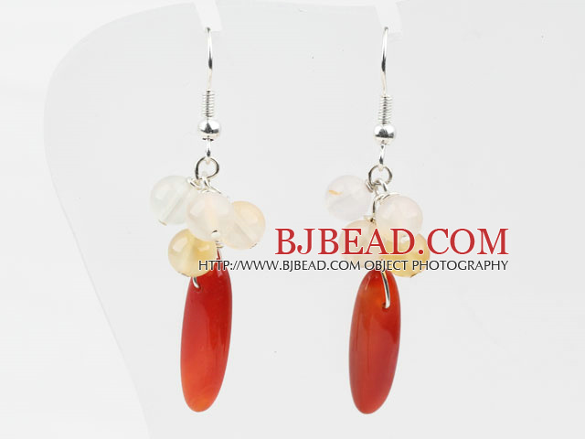 Assorted Natural Color Agate Earrings