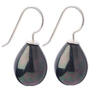 Classic Design Drop Shape Black with Colorful Seashell Beads Earrings