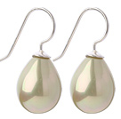 Classic Design Drop Shape Light Yellow Green Color Seashell Beads Earrings under $ 40