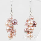 Dangle Style Natural Purple Freshwater Pearl Earrings under $ 40