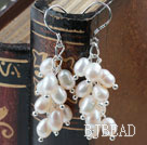 Rice Shape Natural White Freshwater Pearl Earrings under $ 40