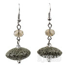UFO Shaped Volcanic Stone Earrings