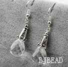 Drop Shape Clear Crystal Earrings under $ 40