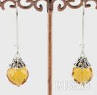 14mm Swiss citrine fashion earrings