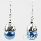 Simple Style Blue Seashell Beads Earrings