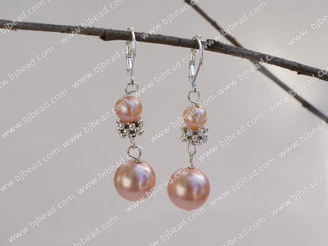 cab2a3393a23 rosa perla naturales y de concha de mar cuentas aretes de perlas