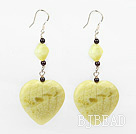 garnet and lemon stone earrings under $4