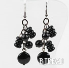 New Design Assorted Black Agate Earrings
