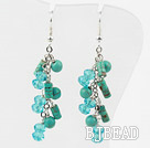 New Design Assorted Turquoise and Green Crystal Fashion Earrings under $2.5
