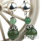 New Design Aventurine Dangle Clip Earrings