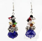 Assorted Multi Color and Dark Blue Color Manmade Crystal Earrings